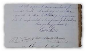 Final y firma de la carta de P. Ramos del 14 de Noviembre de 1873